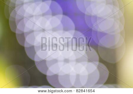 Blurry bokeh of  light bulb