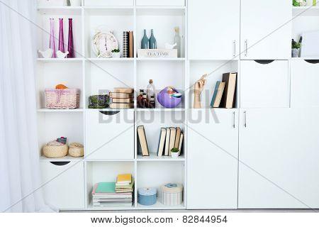 Modern design interior of room with closet, indoors