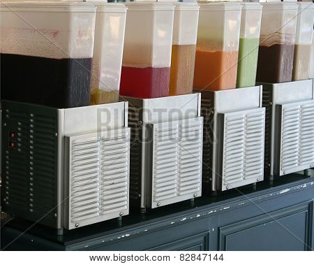 Cooler With Water Juice