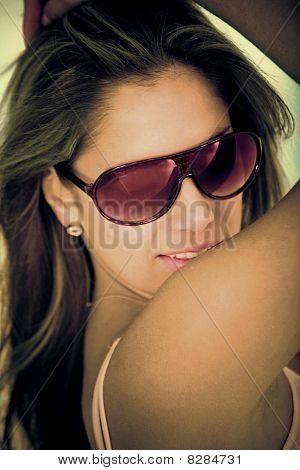 Woman Portrait With Sunglasses
