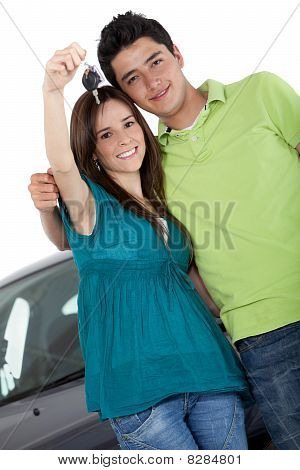 Couple With A Car