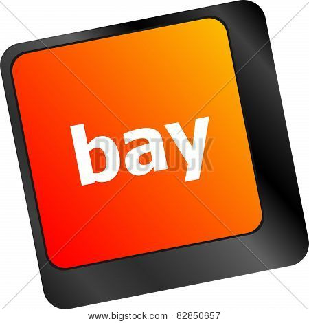 Bay Word On Keyboard Key, Notebook Computer Button