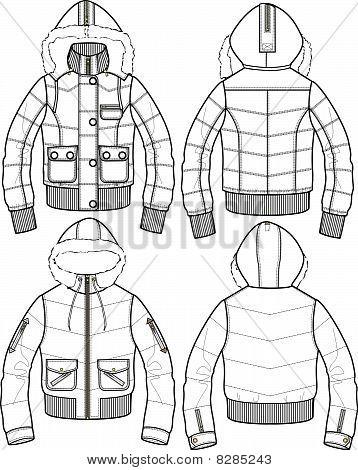 lady padded bomber jacket