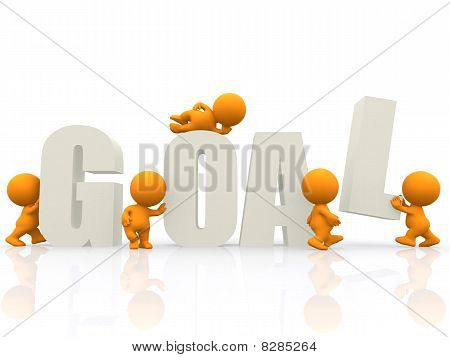 3D People Around The Word Goal