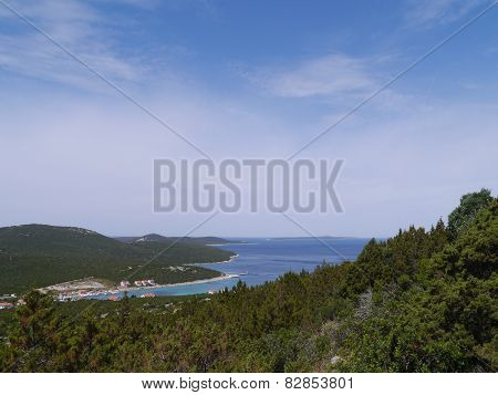 The bay of the village Ist in Croatia