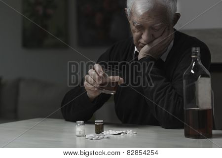 Elderly Man Addicted