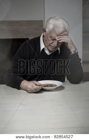 Lonely Man Eating Soup
