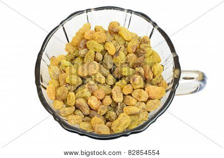 Sultanas in a cup