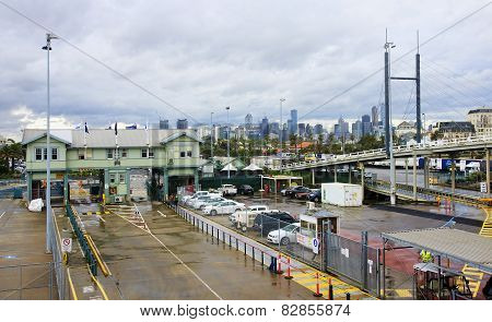 Melbourne, Australia - January 13, 2015: The View From The Ferry