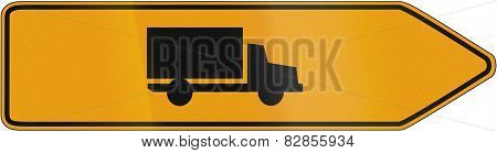 Direction Sign For Lorries 1956
