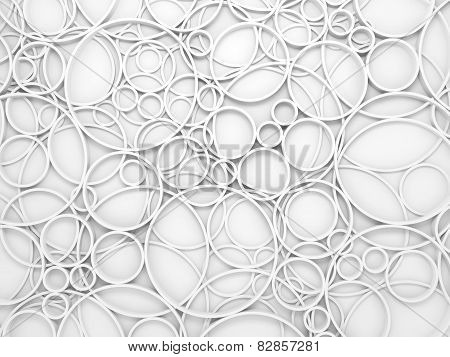 Abstract White 3D Background With Relief Circles Pattern