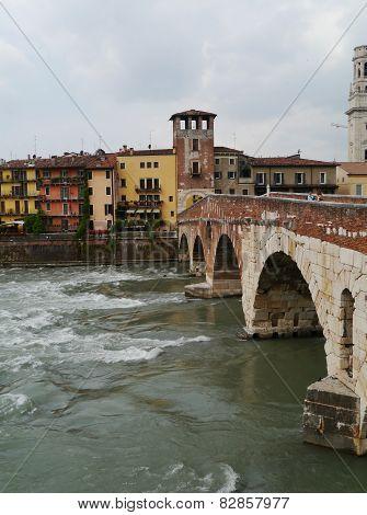 Ponte Pietre a bridge in Verona