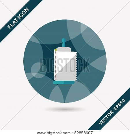Kitchenware Paper Flat Icon With Long Shadow,eps10