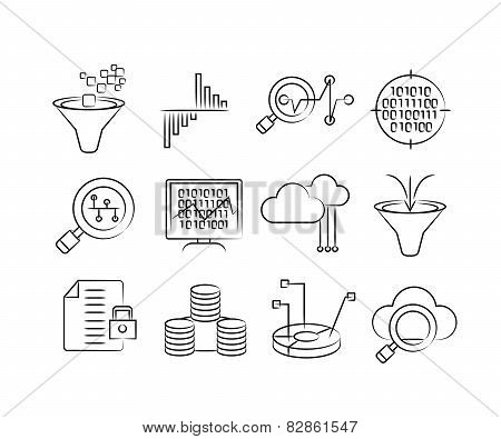 data analytics technology icons