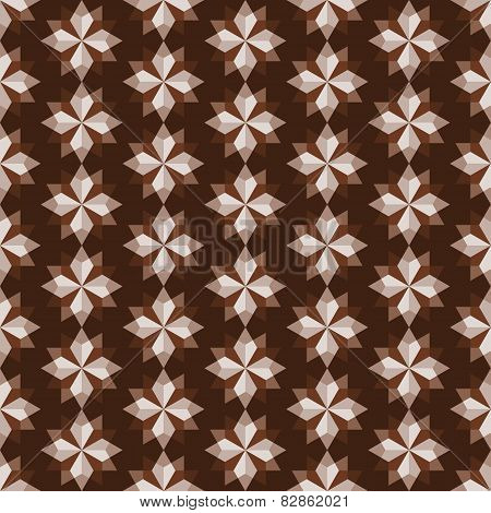 Brown Abstract Rhomboid Or Diamond Seamless Pattern