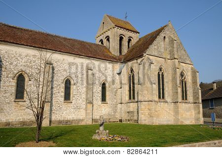 The Old Church Of Seraincourt In Ile De France