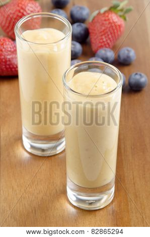 Fruit Smoothie In A Small Shot Glass
