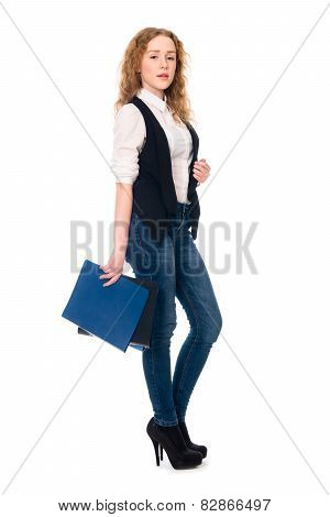 Portrait Successful Young Business Woman
