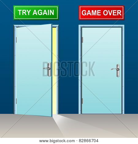 Retry And Game Over Doors