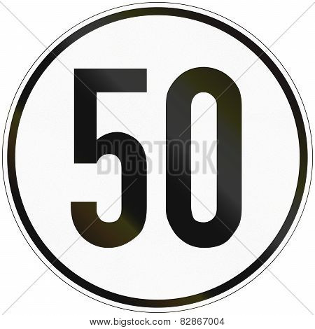 Speed Sign 50