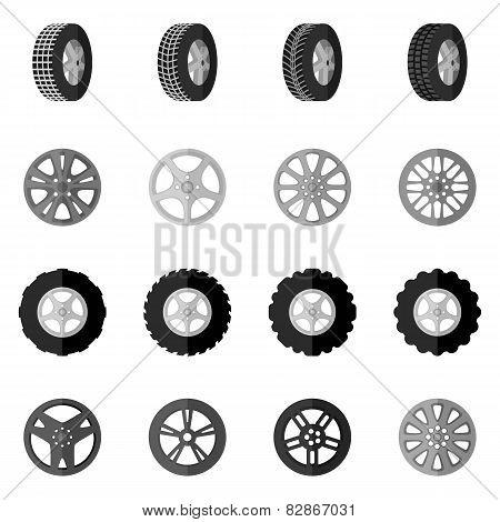 Tire Icon Black
