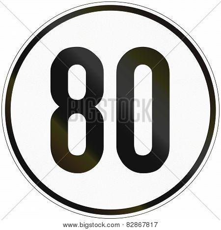 Speed Sign 80