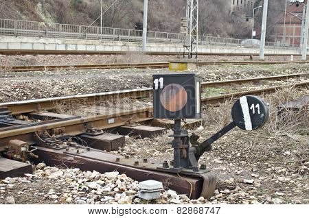 An old light rail signal