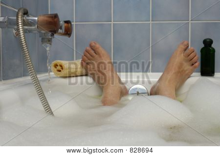 Soaking in a  Nice Hot Bath