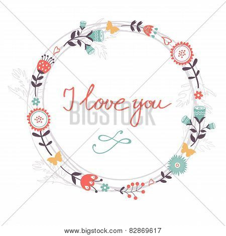Beautiful romantic card