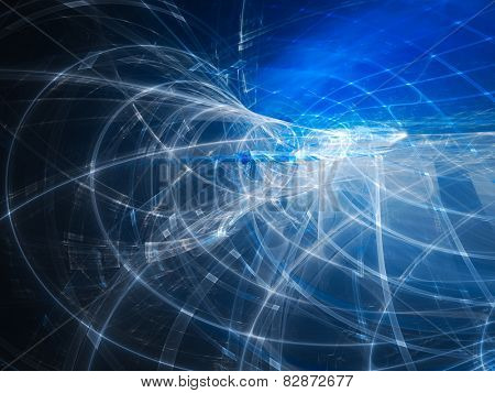 Abstract background in blue and black colors