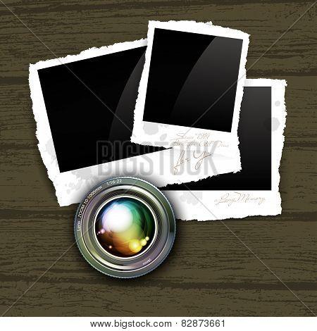 camera lens with photos