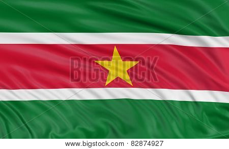 3D flag of Suriname