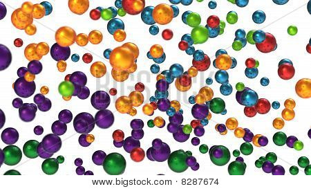 Colorful Bubbles Or Balls