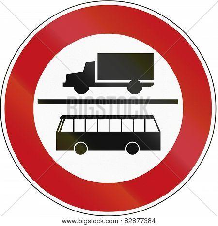 No Lorries Or Buses 1970