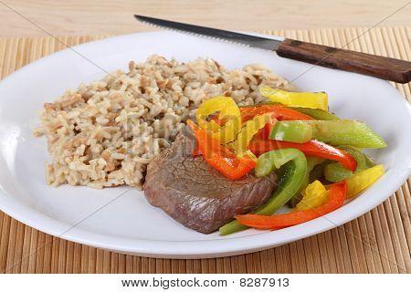 Beef Sirloin Steak Meal