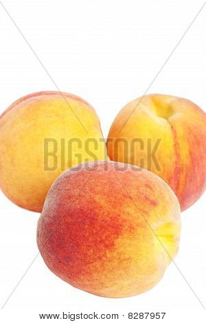 Bunch Of Peaches With Selective Focus