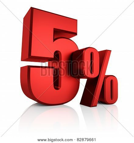 Red 5 Percent