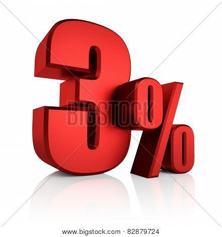 Red 3 Percent