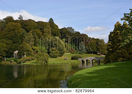 Classic View Over Lake at Stourhead