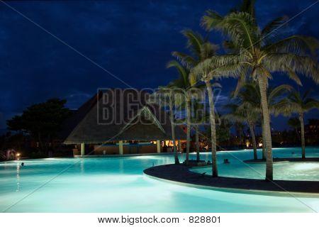 mexico pool night