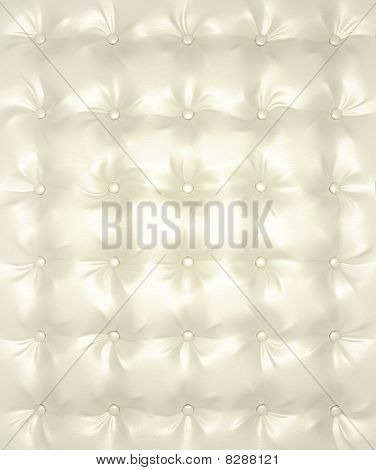 White And Silver Buttoned Leather Pattern