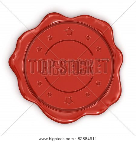 Wax Stamp Top Secret (clipping path included)