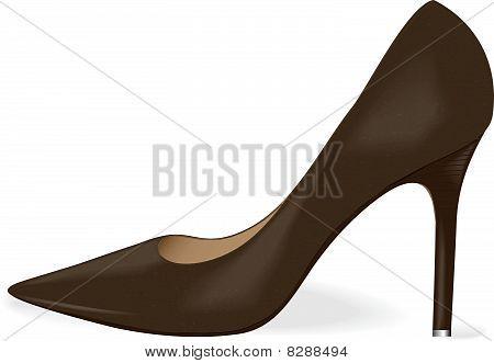 Vector women's blackl shoe.