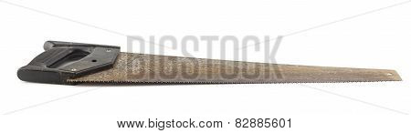 Old Handsaw On White Background