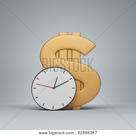 Clock And Money Symbol