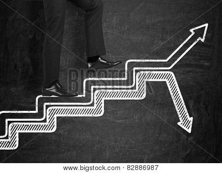 Men Walking On Chart