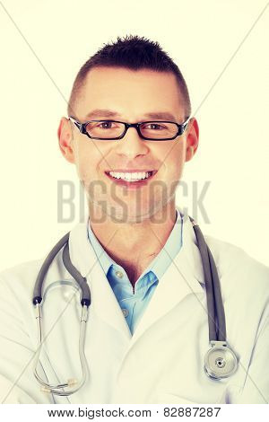 Portrait of confident young medical doctor