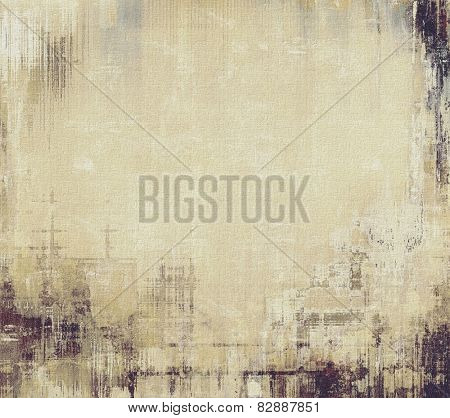 Abstract textured background designed in grunge style. With different color patterns: yellow (beige); brown; gray; black