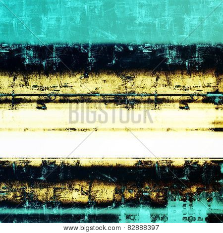 Old designed texture as abstract grunge background. With different color patterns: yellow (beige); blue; cyan; black