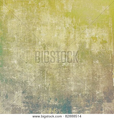 Abstract textured background designed in grunge style. With different color patterns: yellow (beige); brown; gray; green